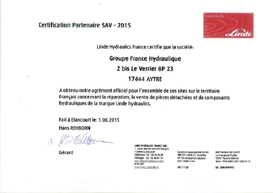 Certification Linde