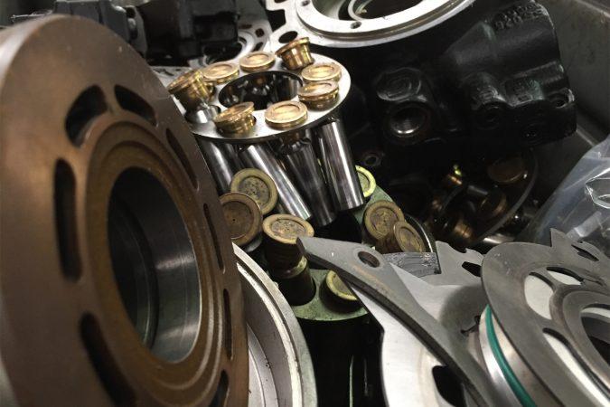Réparation de composants hydrauliques
